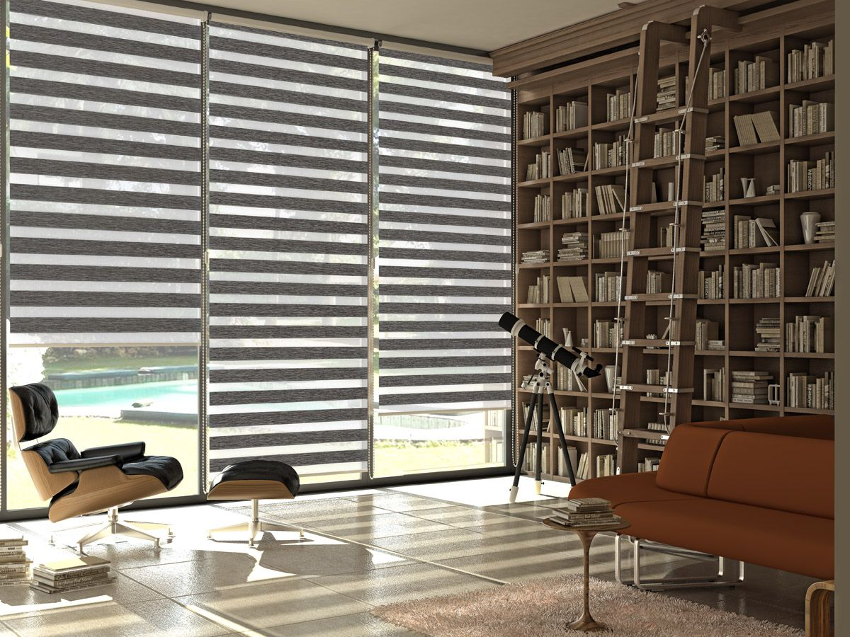 The most popular window treatment: Dual Sheer Shades / Zebra Blinds